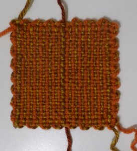 When you take the square off the loom, you'll have a strand for gathering.