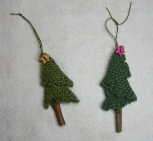 Jamelle's tree (L), and Sue's (R).