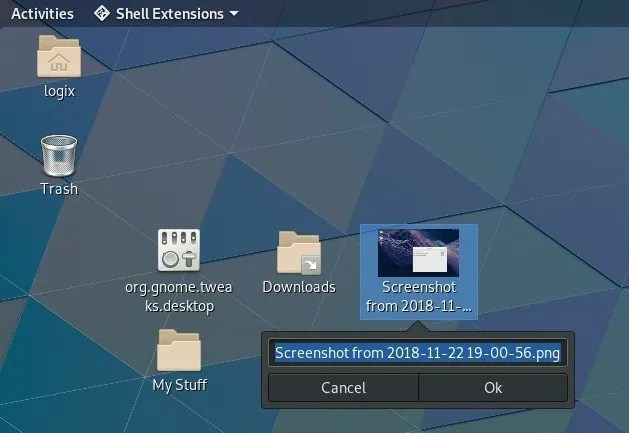 extension iconos gnome shell