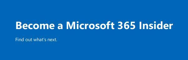 microsoft 365 insider