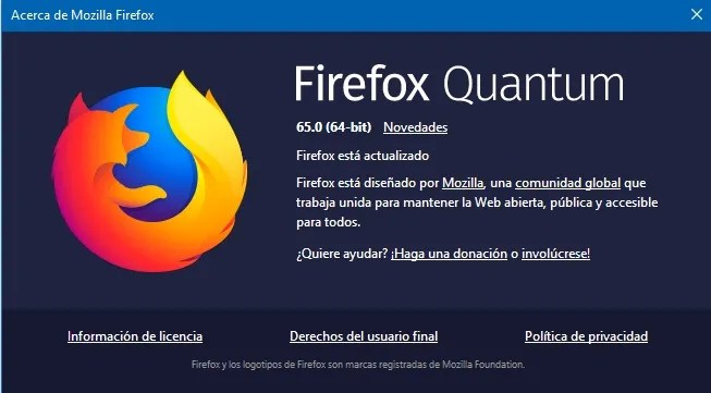 Firefox Quantum 65