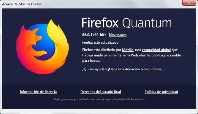 Firefox Quantum 66.0.1
