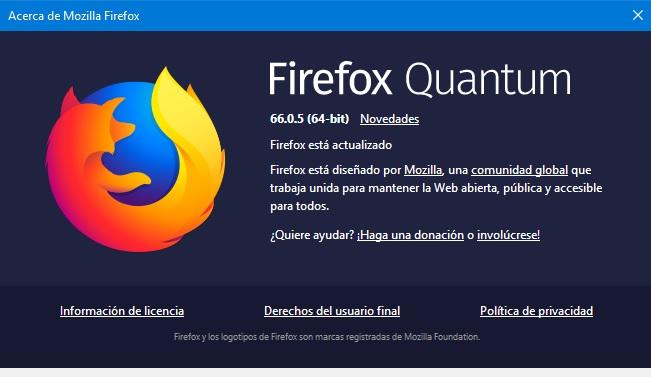 Firefox Quantum 66.0.5