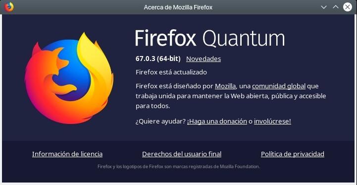 Firefox Quantum 67.0.3