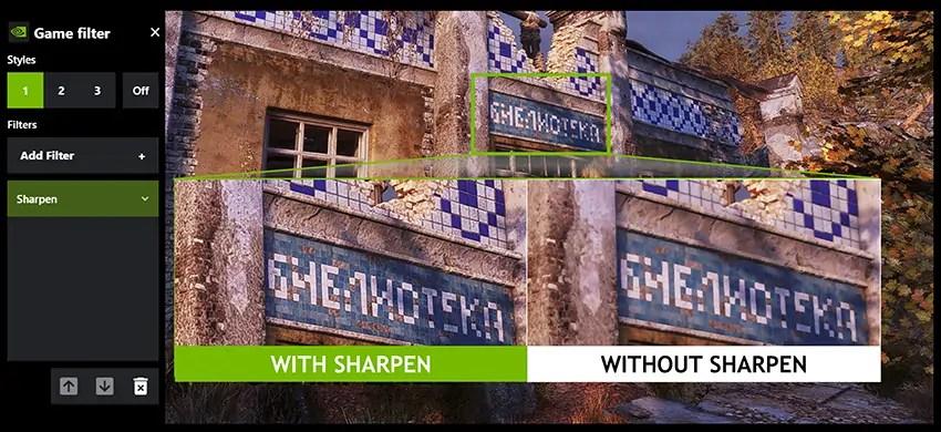 Resultado al aplicar Freestyle Sharpening en el driver nvidia game ready
