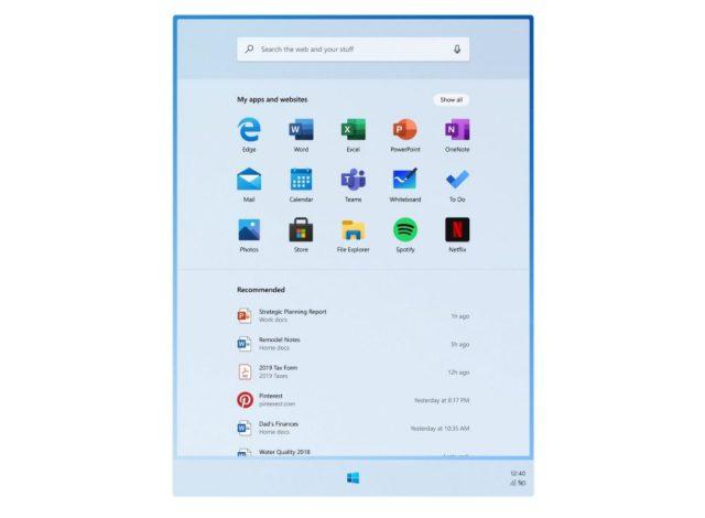 windows 10 x conceptos menu de inicio