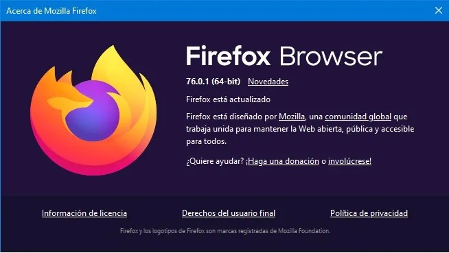 Firefox Browser 76.0.1