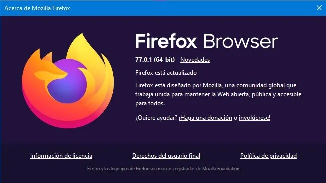 Firefox Browser 77.0.1