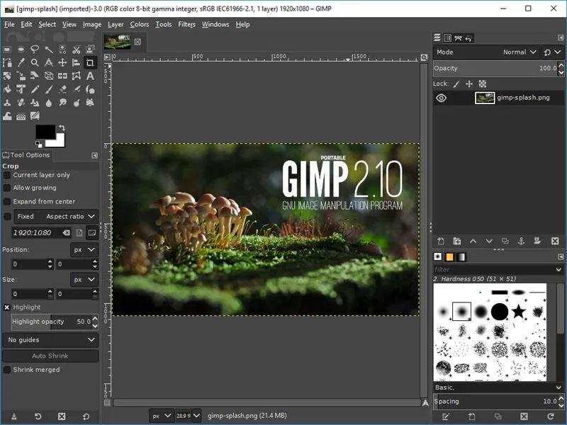 gimp editores de fotos