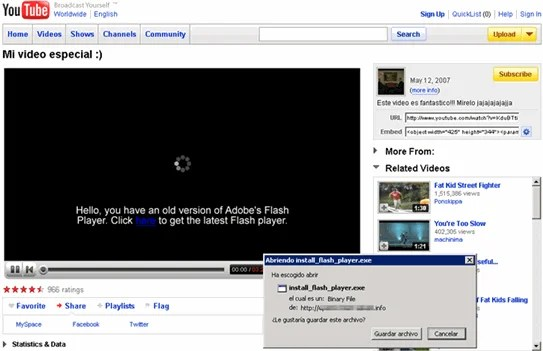 youtube era flash player