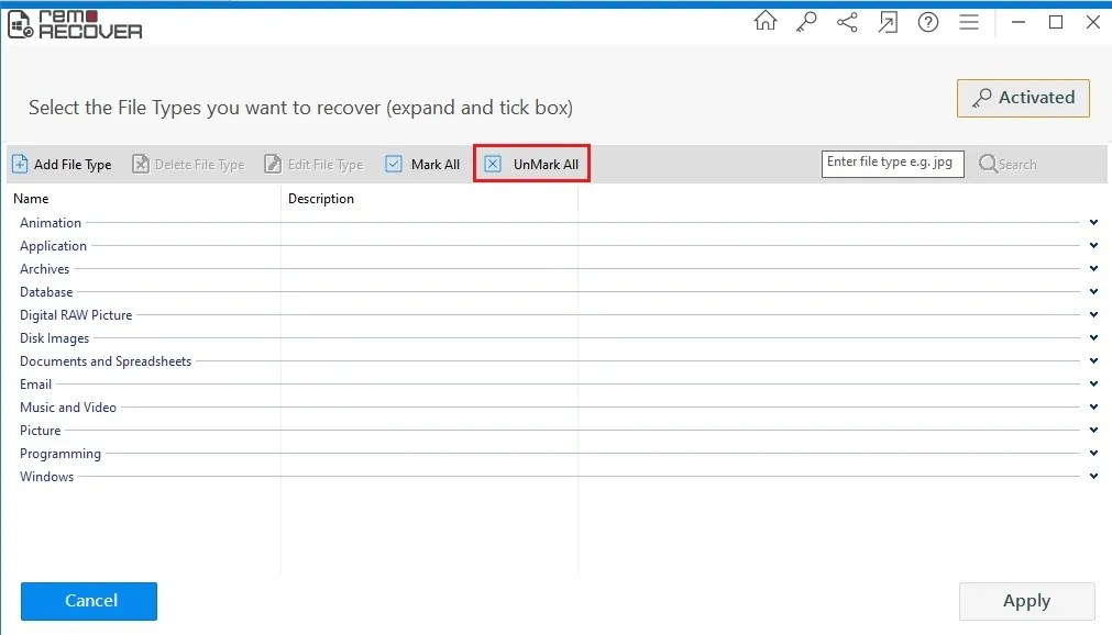 escanear 03 Remo Data Recovery