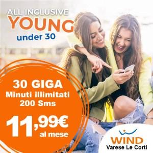 Promozione Wind Under 30, per ragazzi con meno di 30 anni