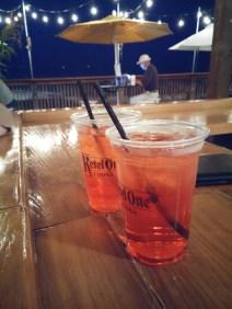 Drinks at Oak Street Beach restaurant. DJ spins until 9:30 pm on Friday.