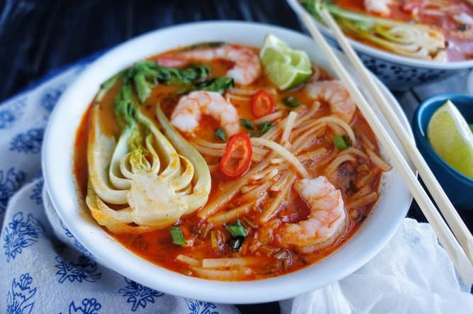 Thai Noodle Soup with Shrimp