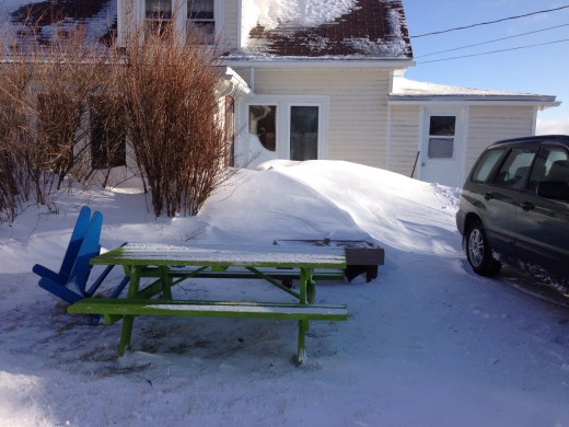 My bbq is under that drift. My picnic table is not.