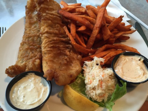 Fish & sweet potato fries
