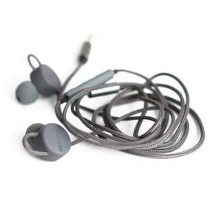 Boompods Retrobuds Wired in-Ear 3.5 Jack Headphones with Remote Control (Grey)