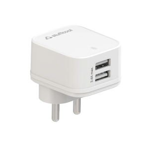 Stuffcool Venus 3.4A Dual USB Wall Charger Adapter (White)