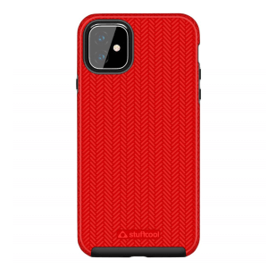 Stuffcool Pine Dual Layer case, Designed for Apple iPhone 11 Case Cover 6.1″ Hard Back (Red)
