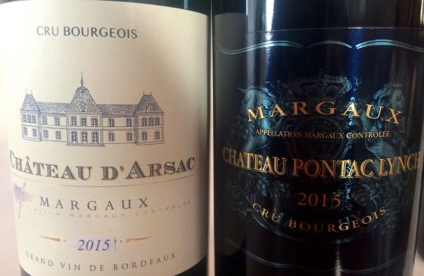 pair of fine cru bourgeois Margaux 2015