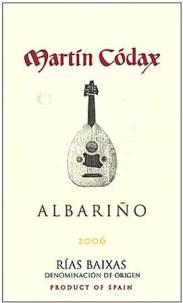 Martin Codax Albarino 2006 label