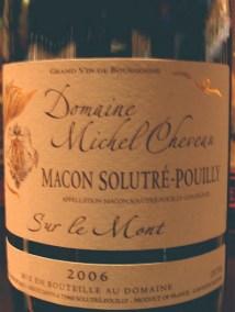Domaine Michel Cheveau Mâcon-Solutré Pouilly