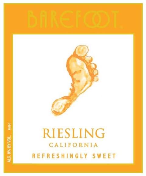 Barefoot Wine Label : barefoot, label, Barefoot, Riesling, Wine.com