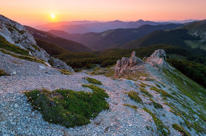 Ernici mountains vineyards