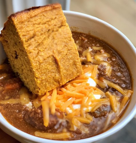 Hearty chili combined with cozy pumpkin, fall spices, balanced with sweet potato and pumpkin ale.