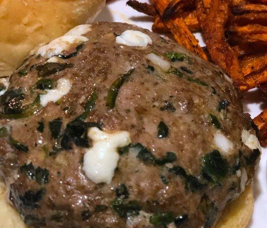Healthy Spinach Mozzarella Turkey Burgers