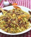 Warm Fall Quinoa Salad with Roasted Butternut Squash & Maple Dijon Dressing