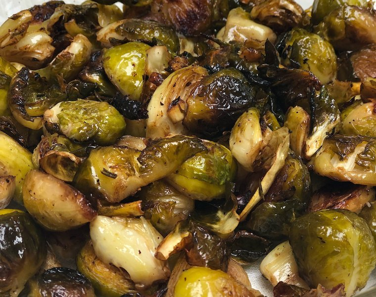 The Best Honey Balsamic Oven Roasted Brussels Sprouts