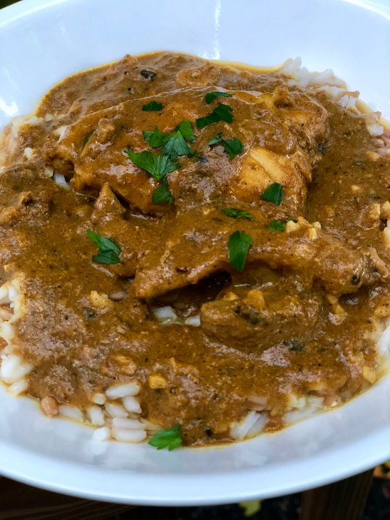 creamy pumpkin butter chicken