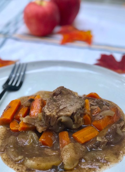 slow cooker apple cider pork tenderloin