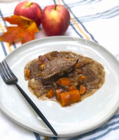 easy slow cooker apple cider pork tenderloin