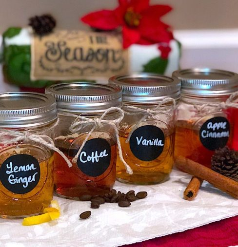 homemade DIY infused whiskey bourbon gift sets