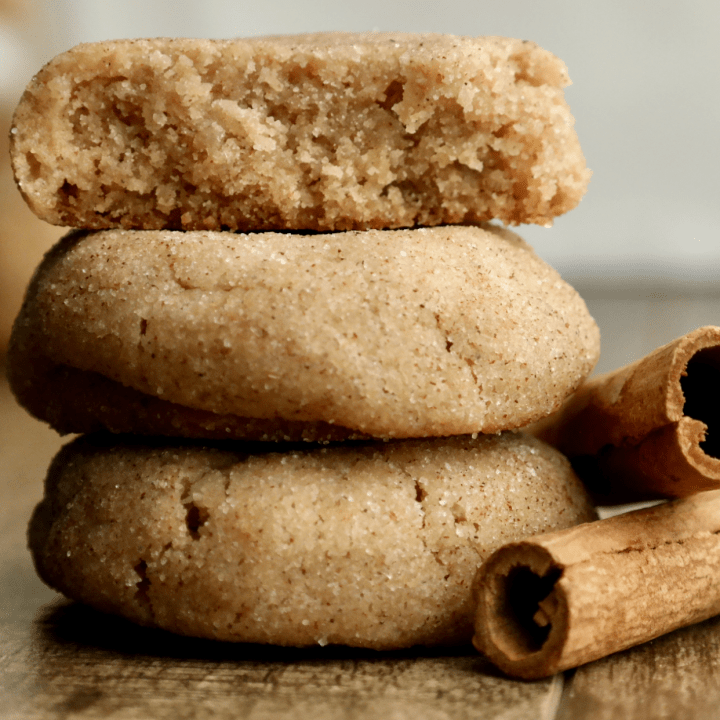 soft chai spice & brown butter snickerdoodle cookies