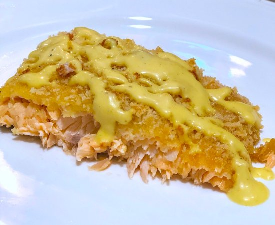 Oven Baked Panko Crusted Salmon with Maple Mayo