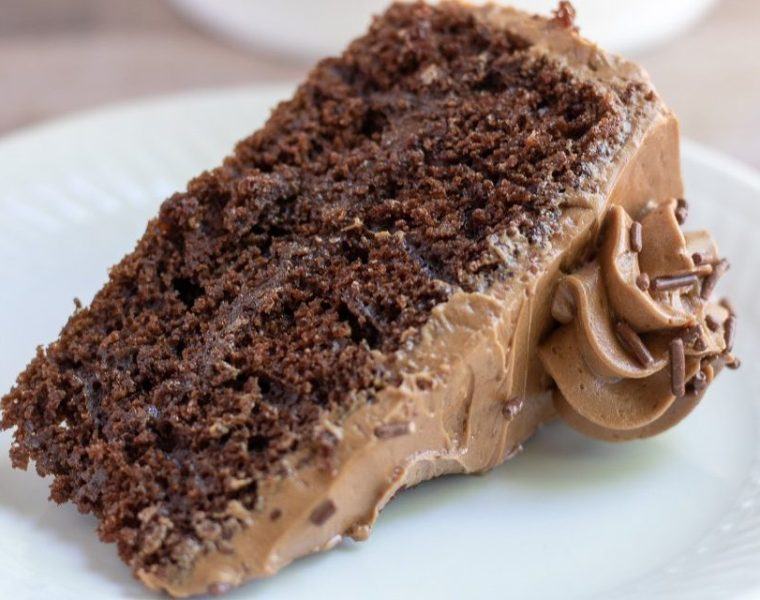 Chocolate Cake with Mocha Swiss Meringue Buttercream