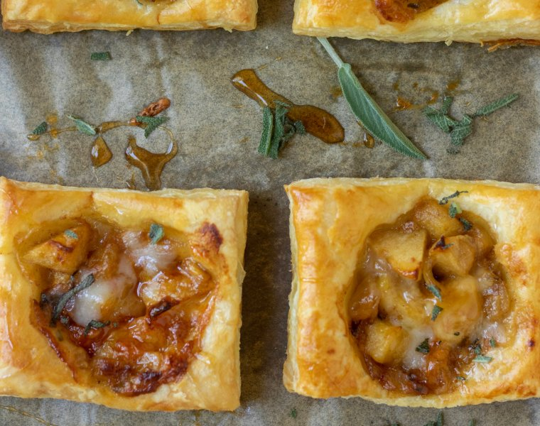 Savory Apple & Cheddar Puff Pastries