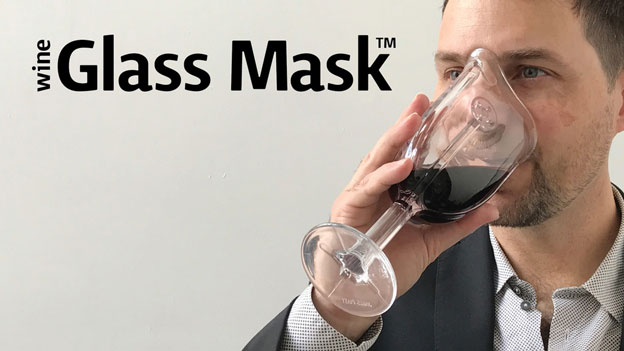 The world's first wine glass contoured to fit your face !