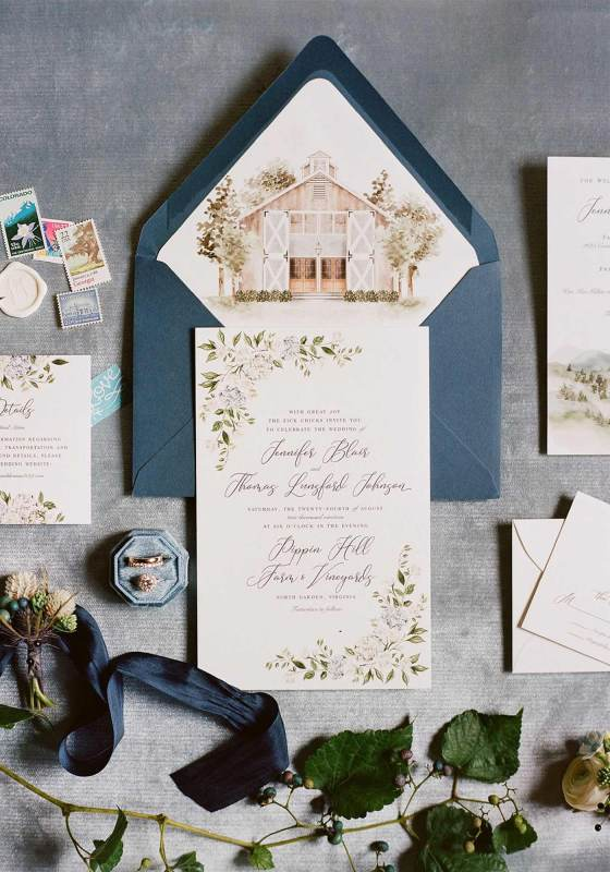 Wedding Stationery, Paper Suites, Wedding Invitations, Invitation Ideas, Blue Stationery, Personalized Stationery, Pippin Hill Wedding, Virginia Wedding
