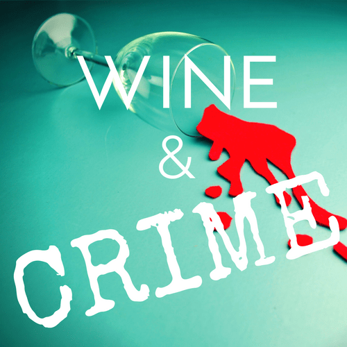Wine & Crime Logo (White Text)