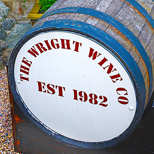 Wright Wine Co shop barrel