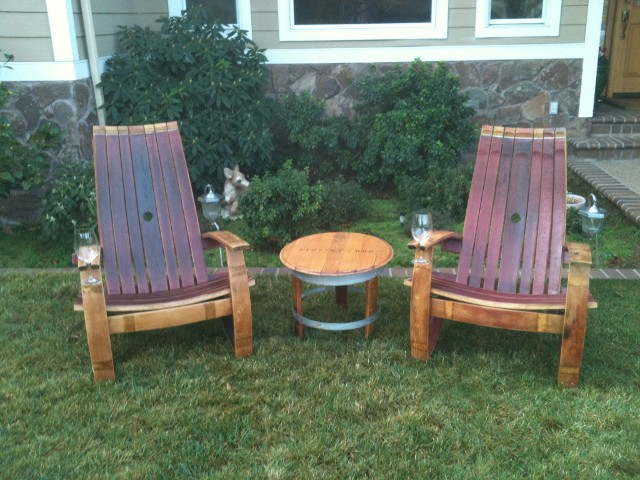 wine barrel chair desk habitat adirondack chairs all patio products are oiled and sealed with 3 coats of durable marine varnish for years beauty
