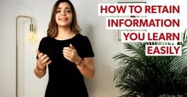 alex explaining how to retain information easily