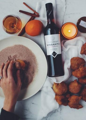 Vinsanto with caramelized oranges