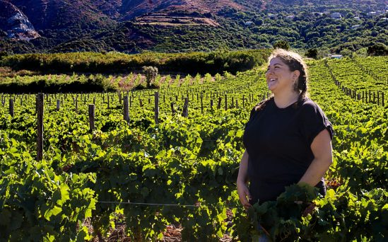 Women in Wine: Mlle D, smiling in the middle of her vines