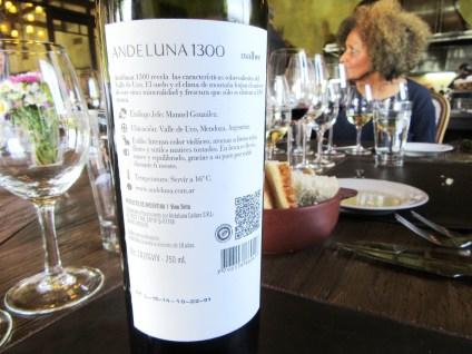 Andeluna, 1300 Malbec 2014, Uco Valley, Mendoza, Argentina, Wine Casual