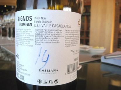 Emiliana Signos de Origen, El Rincón Pinot Noir 2012, Casablanca Valley, Chile, Wine Casual